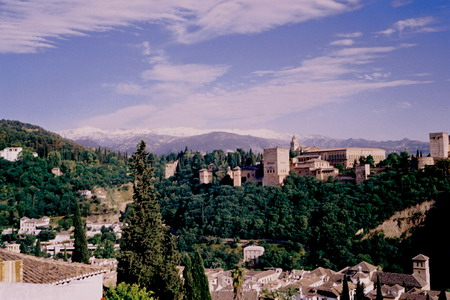 The Alhambra in Granada, Spain.